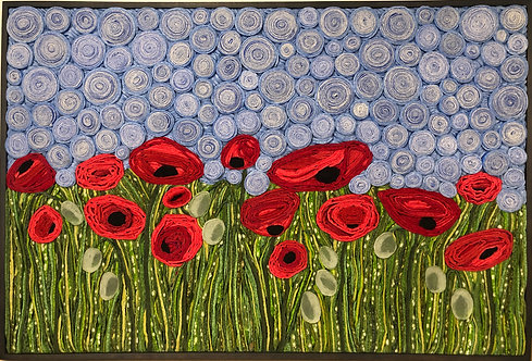 "A Love of Poppies   25"" x 37.5"""
