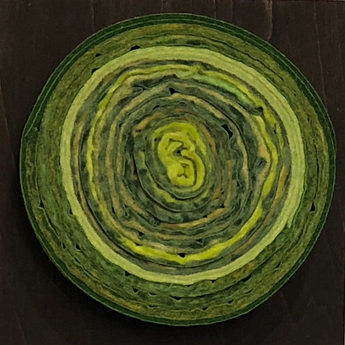 "Circle on Square  4"" sq.  #11"