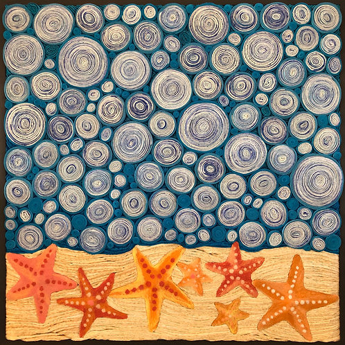 "Starry Starfish   25""x25"""