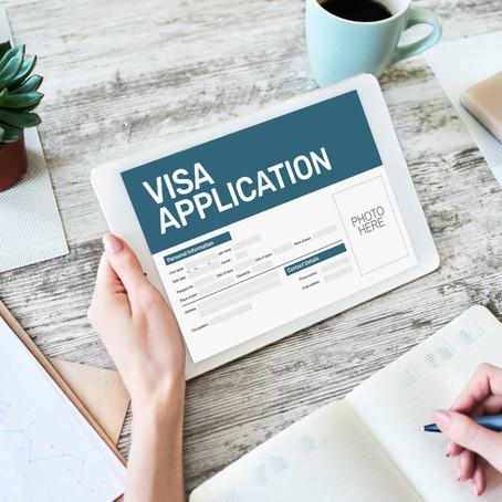 COVID-19 og visumansøgninger