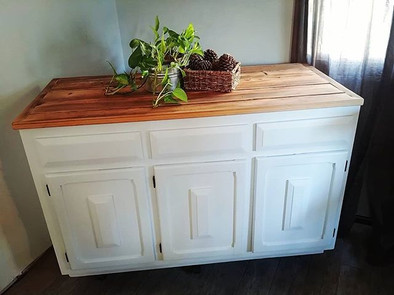 🔥Barnwood countertop makeover for this