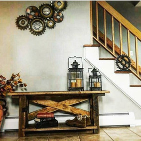 ♦Rustic, reclaimed barn wood bench♦ www.