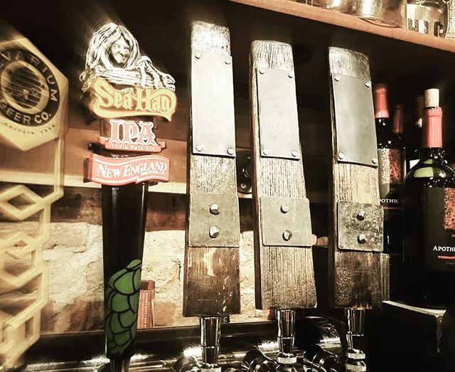 Whiskey Barrel Beer Taps