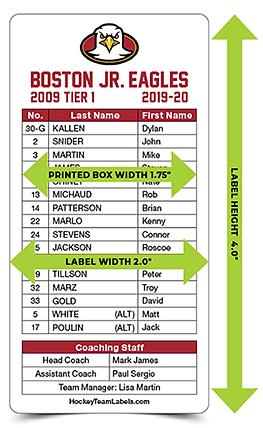hockey game scoresheet label layout