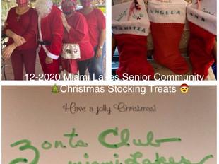 ZCML prepared & distributed Christmas Stockings for Seniors
