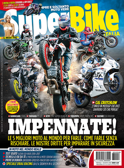 Cover shot for SuperBike Italia August 2018