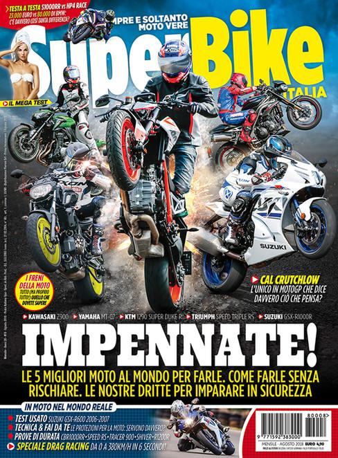 Cover shot for SuperBike Italia August 2018