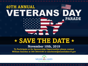 Saluting our troops with the Town of Miami Lakes