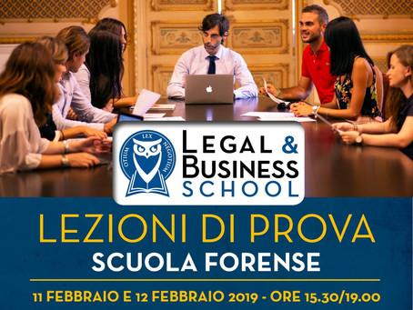 LEZIONI DI PROVA GRATUITE                    - SCUOLA FORENSE -