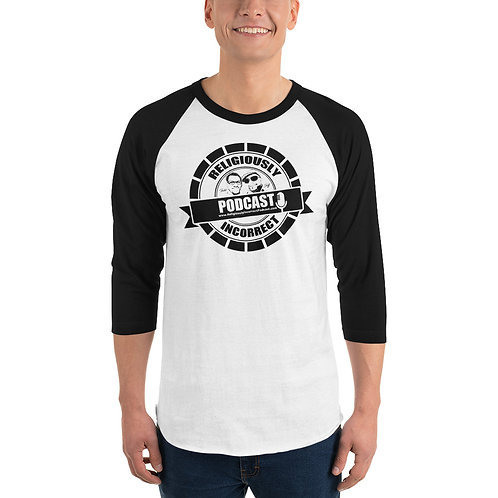 Religiously Incorrect Podcast Branded Shirt Blk/Wht