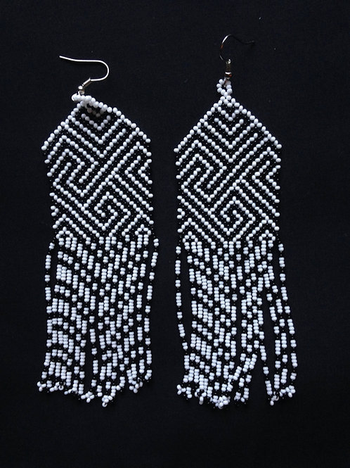 Huni Kuin Earrings Traditional Ceremonial Wear Protection Joy Sacred Geometry