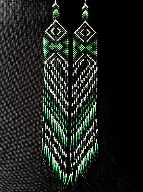 Yawanawa Handmade Beaded Earrings Tribal Authentic Ceremonial Protection Joy Col