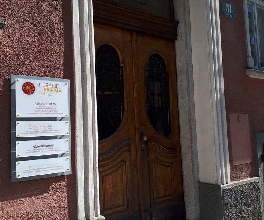 Therapiepraxis Graz - Aussenbereich