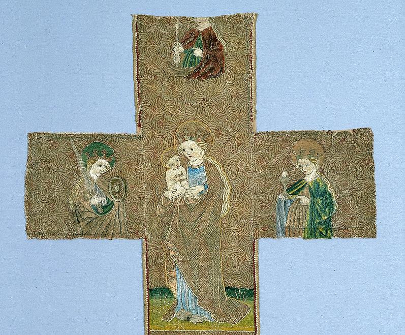 Kaselkreuz mit Maria und Heiligen - Kopi