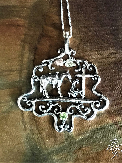 Praying Cow Girl Necklace