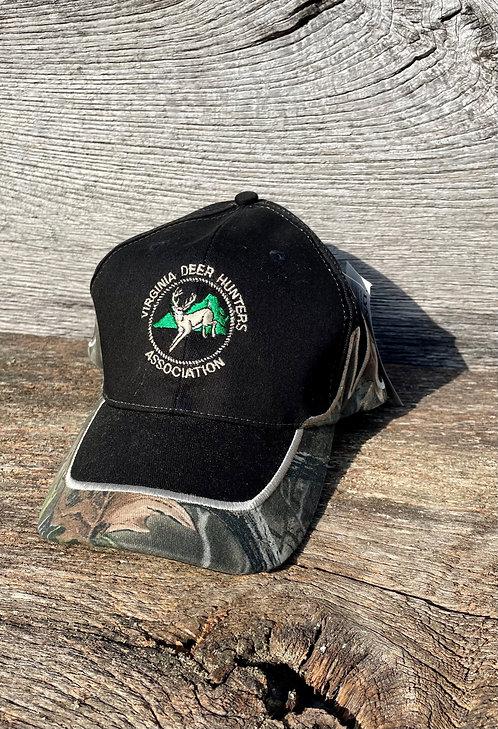 VDHA Black and Camo Antler Hat