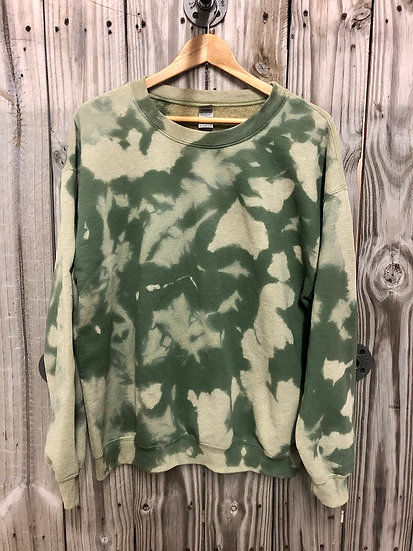 Military Green Bleached Crewneck