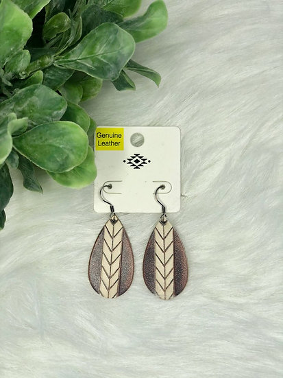Chevron Stripe Teardrop Earrings