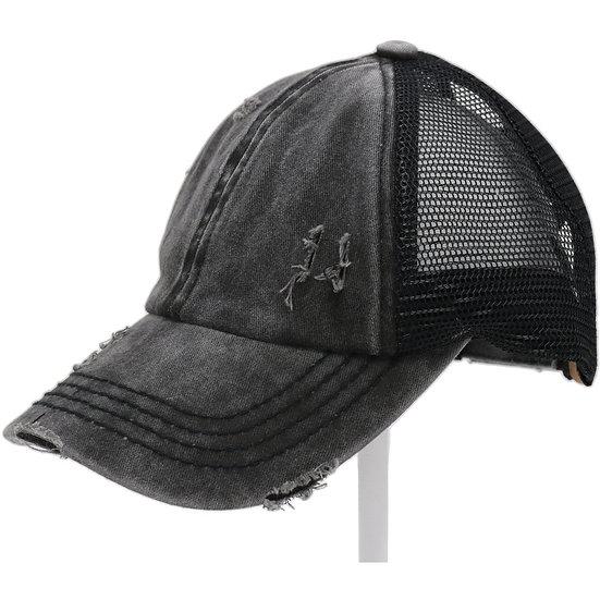C.C. Denim Black Hat