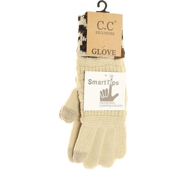 C.C. Beige Smart Tips Gloves