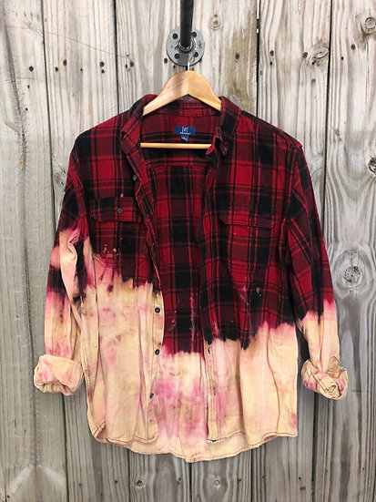 Large Oversized Bleached Flannel
