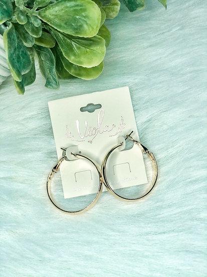 Goldtone Hoop Earrings