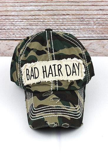 "Camo ""Bad Hair Day"" Hat"