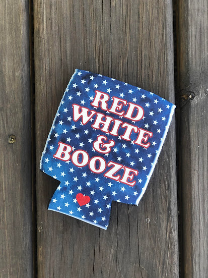 Red White & Booze Can Cooler