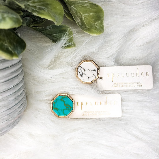 Marble & Turquoise Ring