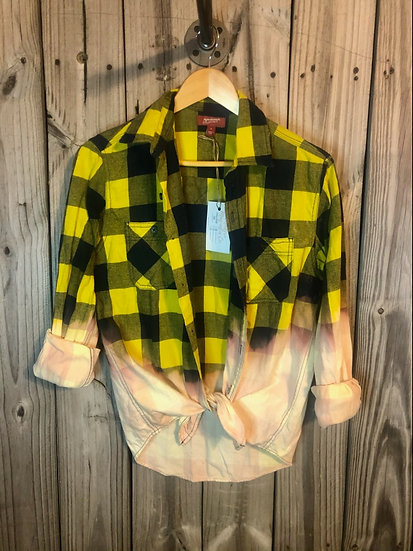 Small Oversized Bleached Flannel