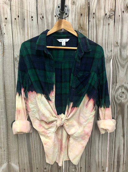 X-Large Oversized Bleached Flannel