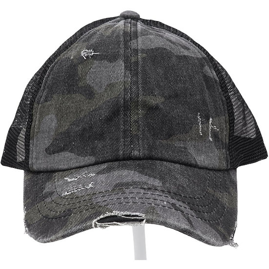 C.C. Distressed Camo Hat