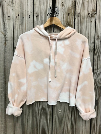 Heather Dust Bleached Cropped Hoodie
