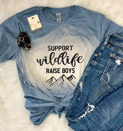 Support Wildlife Bleached Tee