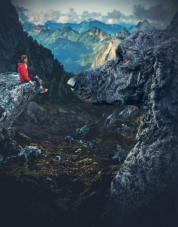 Dog and Girl on cliff SM.jpg