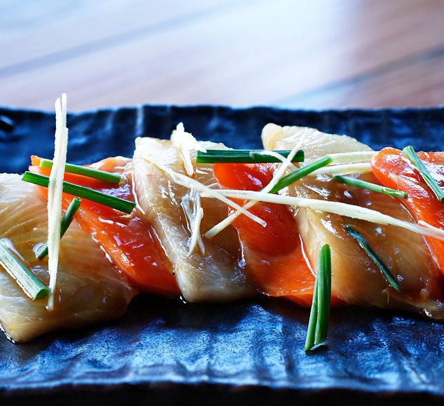 20170626-10-Kingfish and salmon sashimi