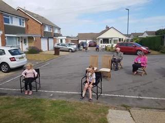 social distance parties children's enter