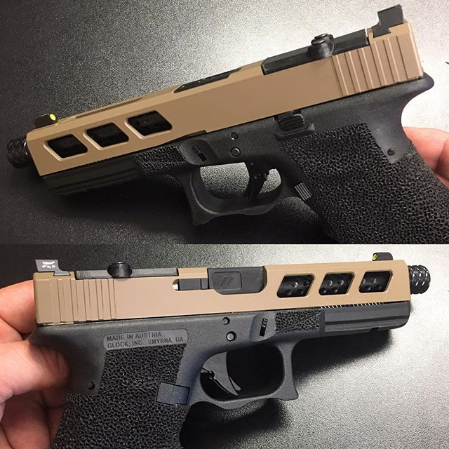 Another completed custom Glock 17 - FDE with Zev Trigger & Barrel, Stipple and Double Undercut