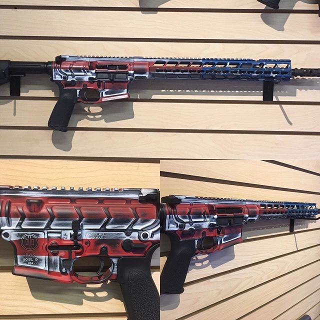 Just got this one back in from cerakote_ Custom PWS MK116 Mod2 with Battle Worn American Flag patter