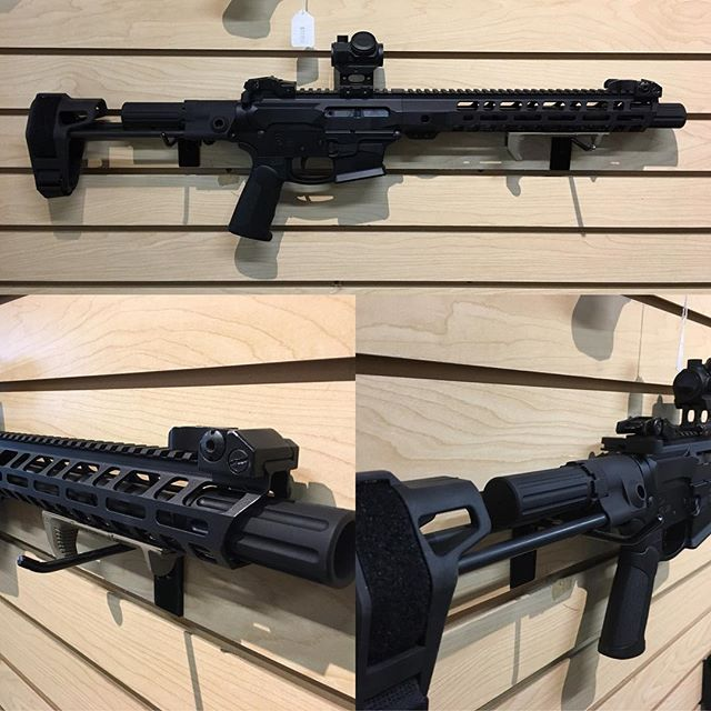 Cool little 9mm PDW pistol AR build !  Maxim Defense Brace with KE Arms Glock mag lower