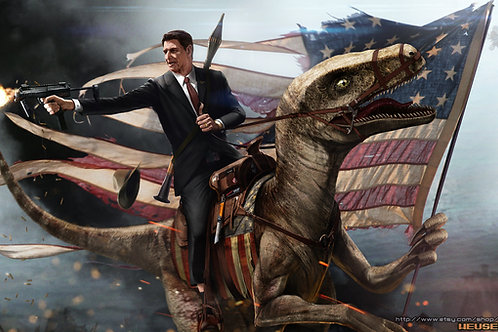 Sticker - Raptor Ronald Reagan