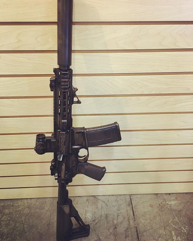 Our PWS SBR is back from cerakote.  Battle Worn Rubbed Bronze!  Looks amazing