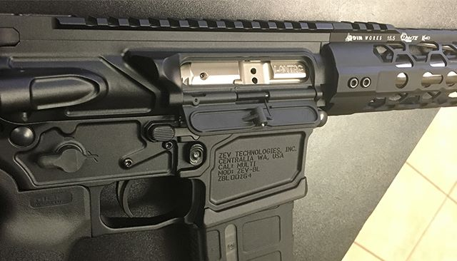 Loving this custom build !!!! Hats off to #zevtech on their AR15 Billet Receiver Set!! All ambi cont