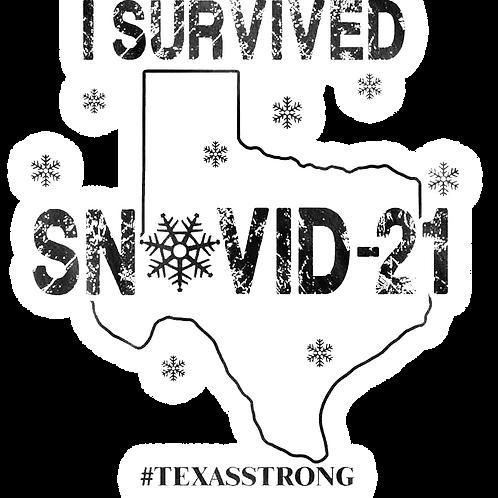 Sticker - I Survived SnowVid-21 - Texas