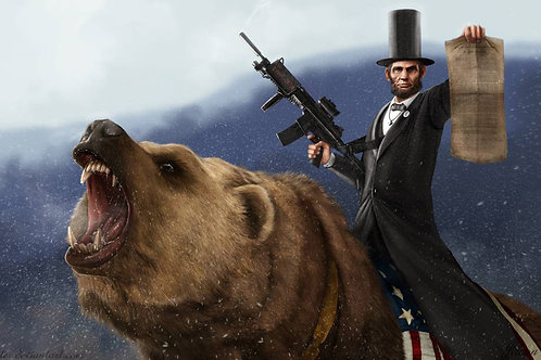 Sticker - Abraham Lincoln Bear Rider