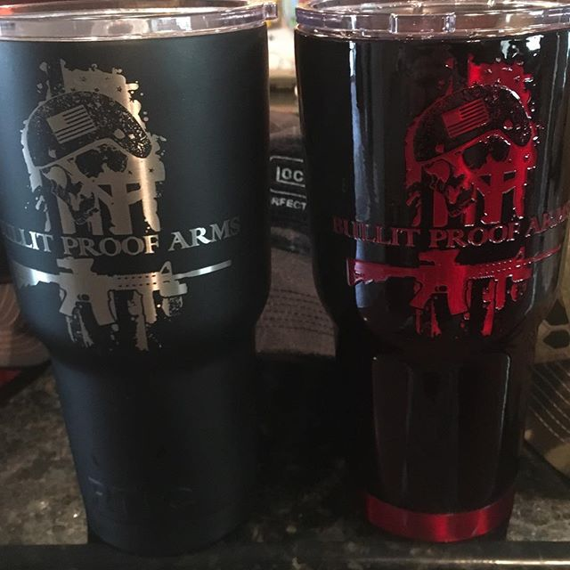 Our RTIC Tumblers now available in Black with Blood RED!! #bullitproofarms #bullitproofreview #jascu
