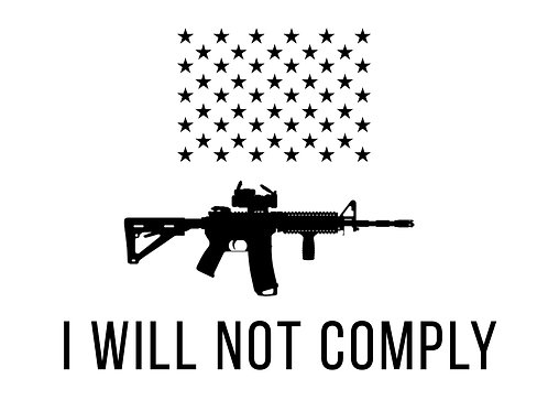 Sticker - I Will Not Comply