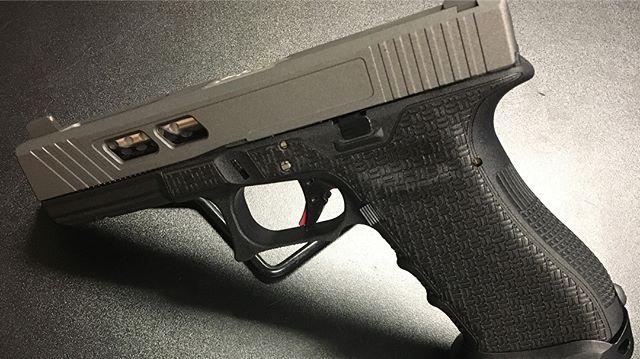 Another Custom Glock design !  #bullitproofarms #tungstengrey #ccerakote #customcerakote #stipple #s