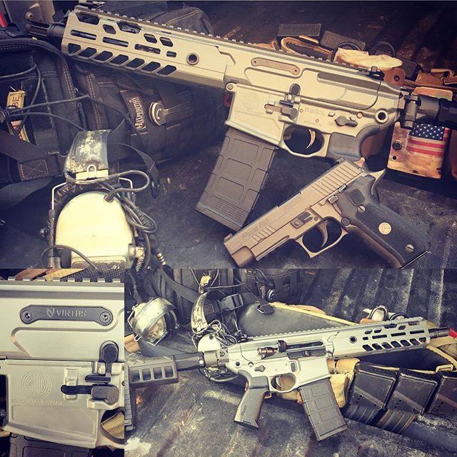 "9"" Barrel and Folding PSB !  Matching P226 Legion make it the perfect pair!  #bullitproofarms #sigs"
