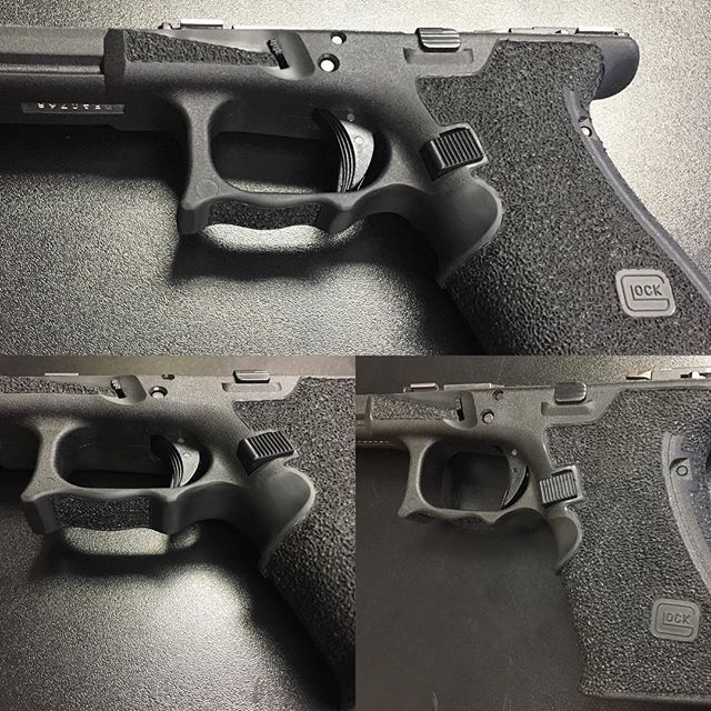 Check out our latest custom frame work ... stipple, enhances finger groove, double undercut, and for